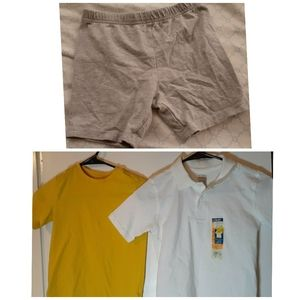 Bundle of Two shirts and a pair of biker shorts